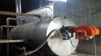 学研热能,燃气锅炉流程图